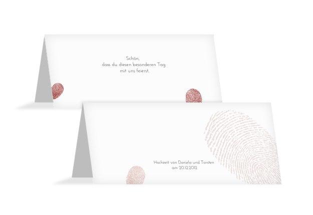Hochzeit Tischkarte fingerprint