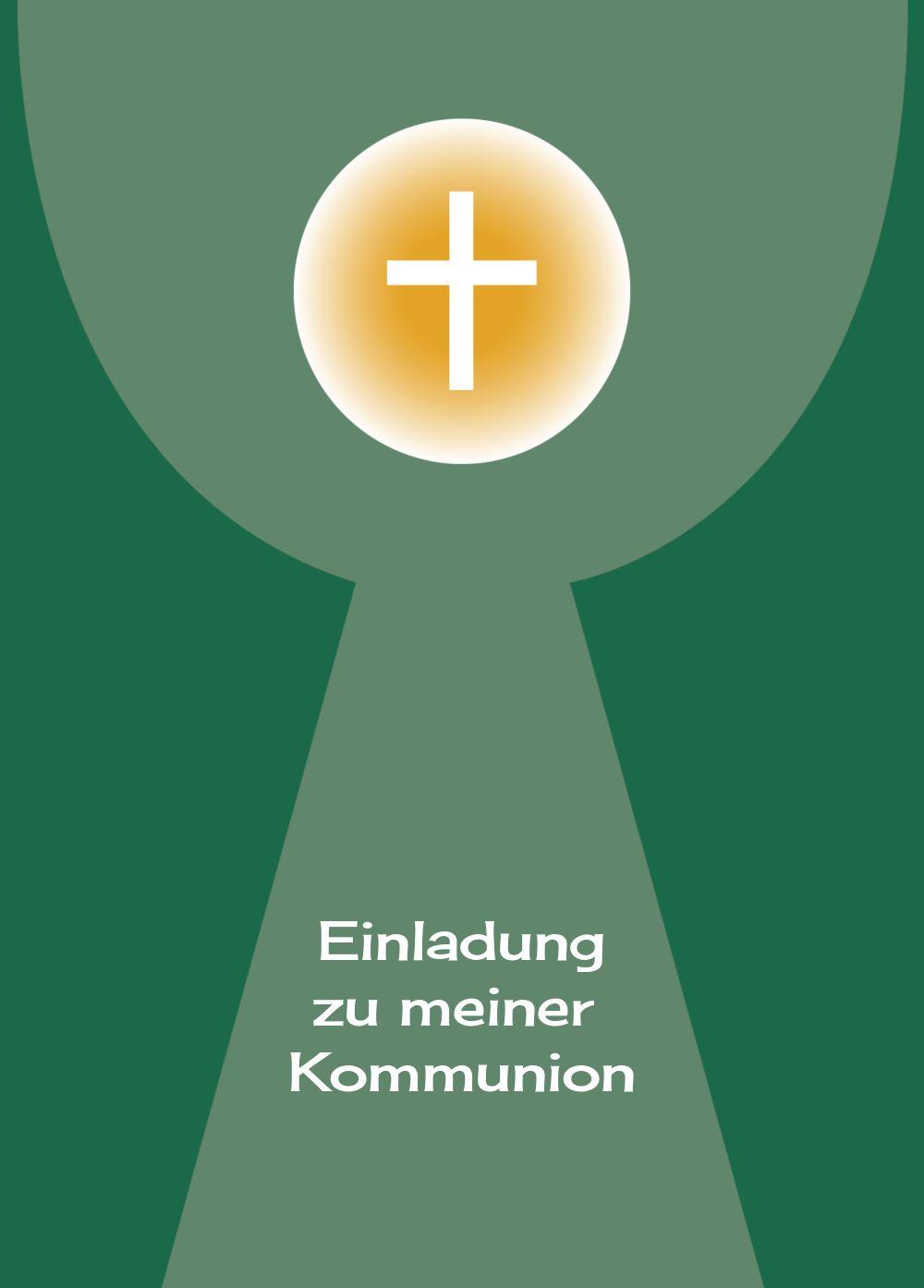 Ansicht 2 - Kommunionskarte Kelch mit Hostie