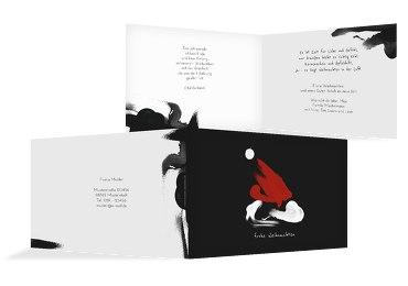 Grußkarte Weihnachten Farbenmütze