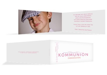 Kommunion Dankeskarte Script