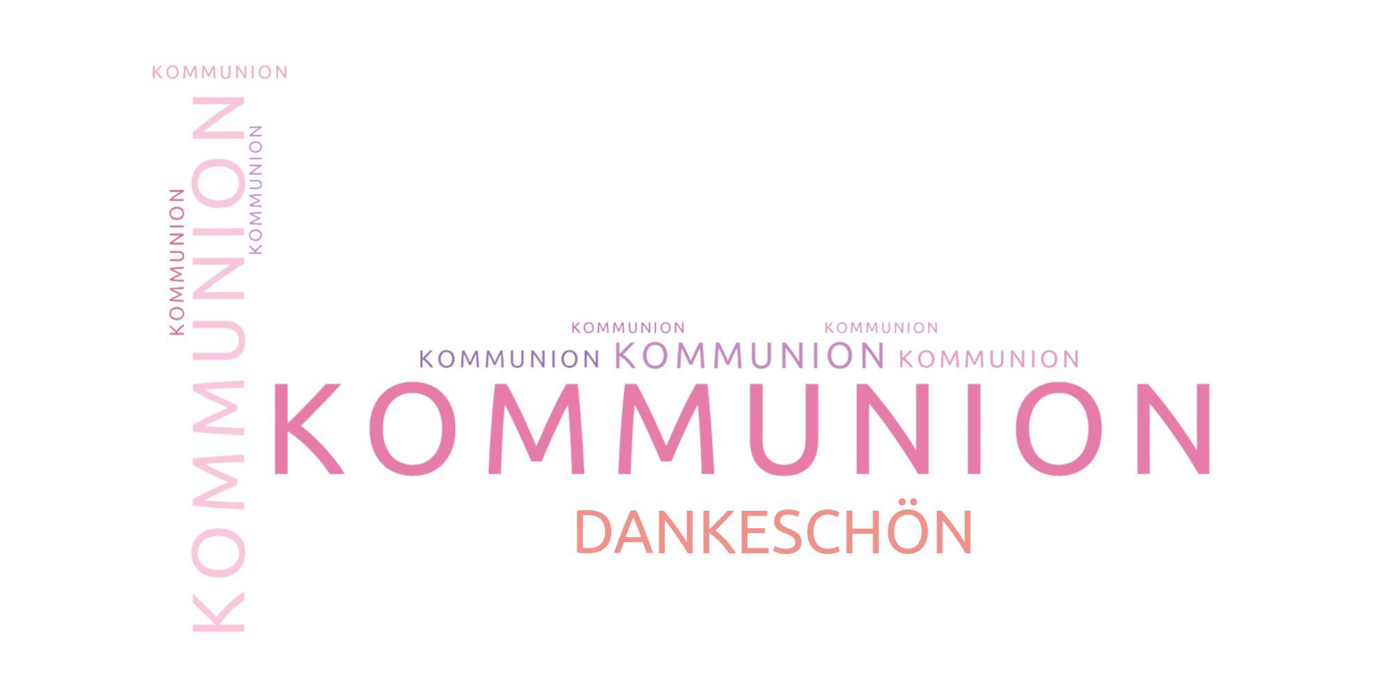Ansicht 3 - Kommunion Dankeskarte Script