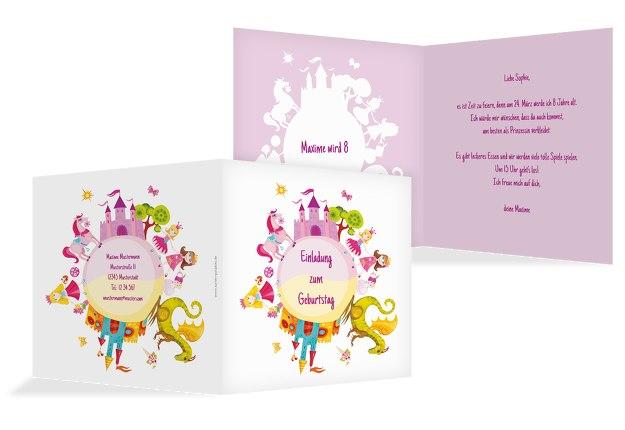 Einladungskarte Traumprinzessin