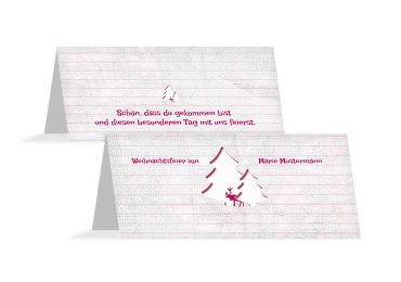 Tischkarte Elchenwald