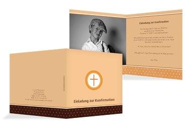 Konfirmation Einladungskarte Kreuzhostie