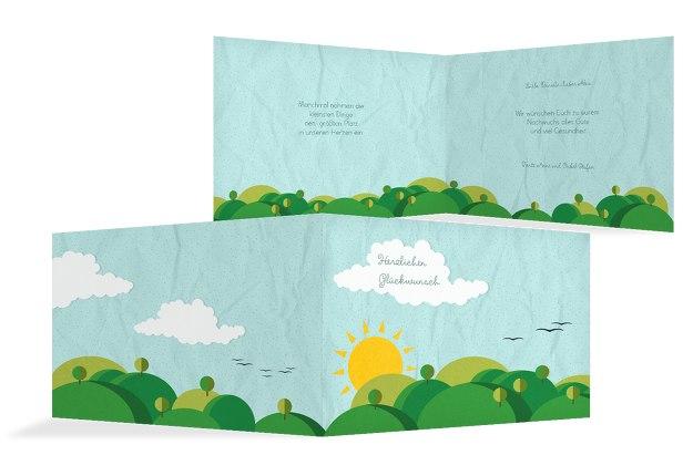 Glückwunschkarte zur Geburt Sommerlandschaft