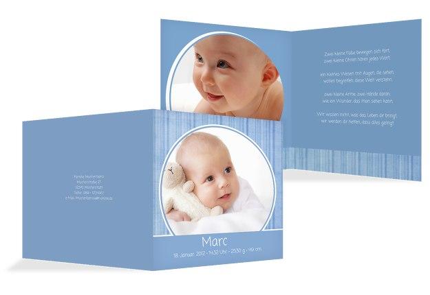 Babykarte Streifentapete