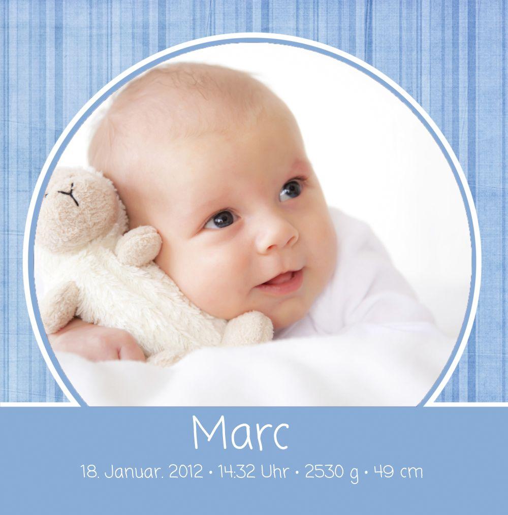 Ansicht 3 - Babykarte Streifentapete