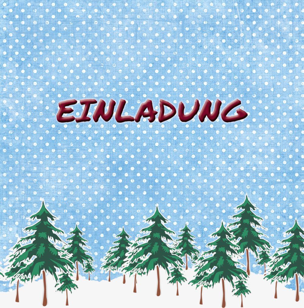 Ansicht 3 - Foto Einladung Schneewald