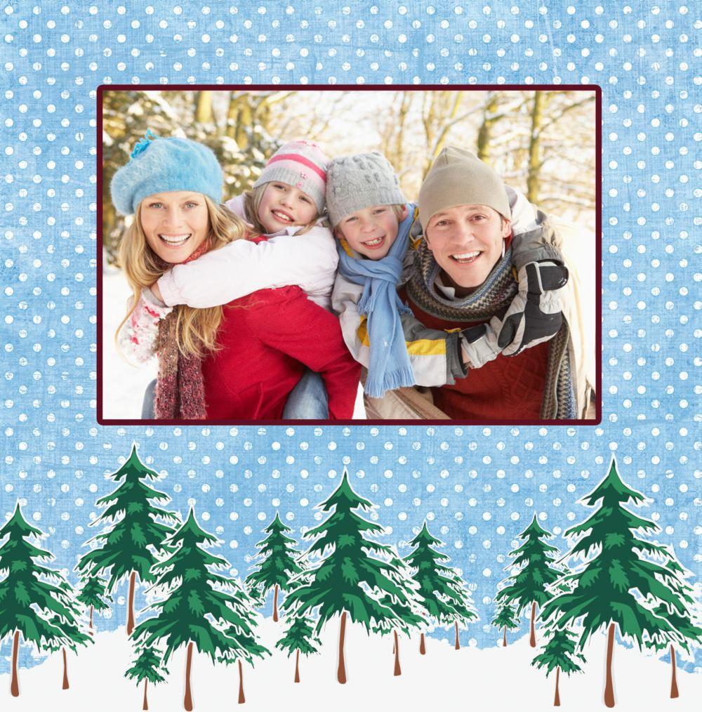 Ansicht 4 - Foto Einladung Schneewald