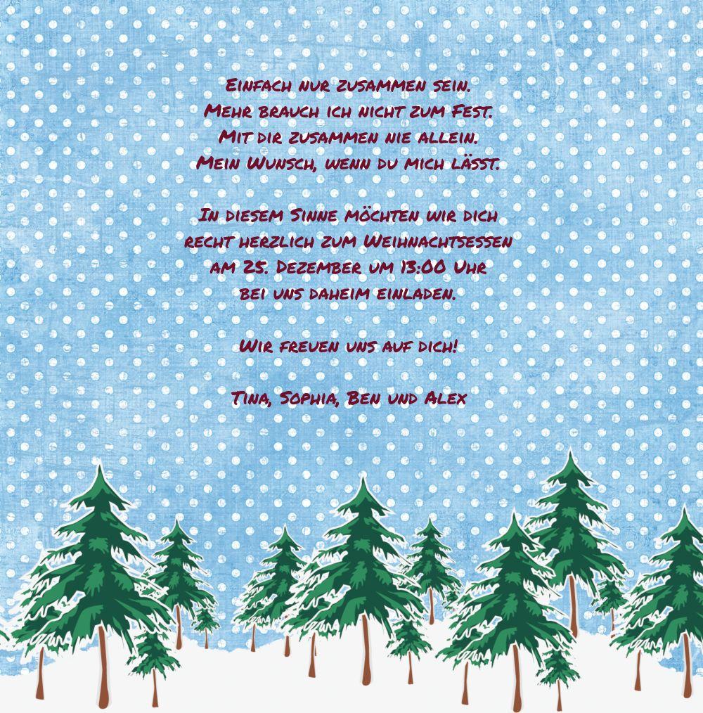Ansicht 5 - Foto Einladung Schneewald