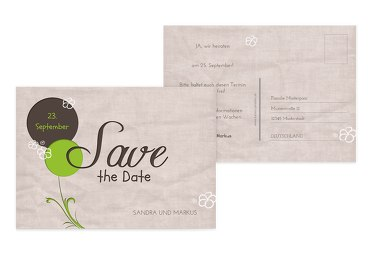 Hochzeit Save the Date Fantasyflower