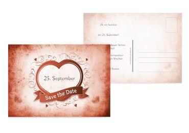 Hochzeit Save-the-Date Herz