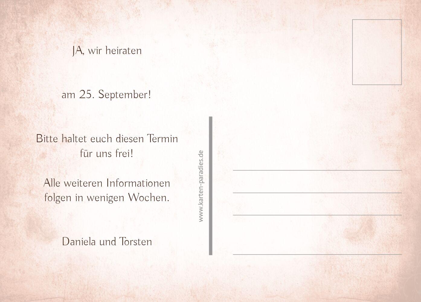 Ansicht 3 - Hochzeit Save-the-Date Herz