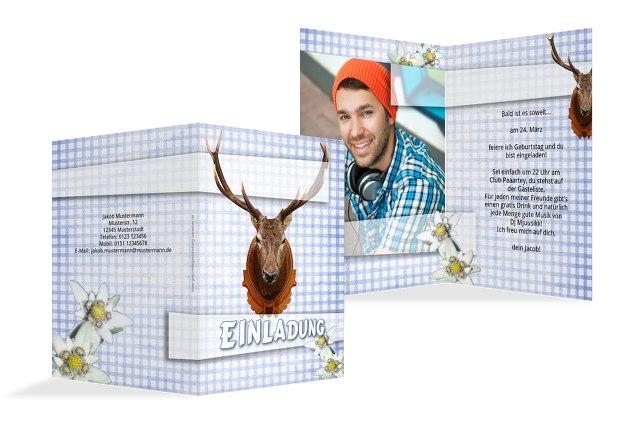 Geburtstagskarte Jagdtrophäe