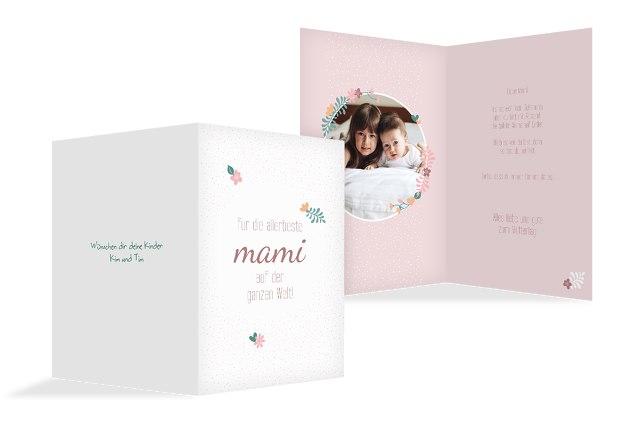 Muttertagskarte Blumenkreis
