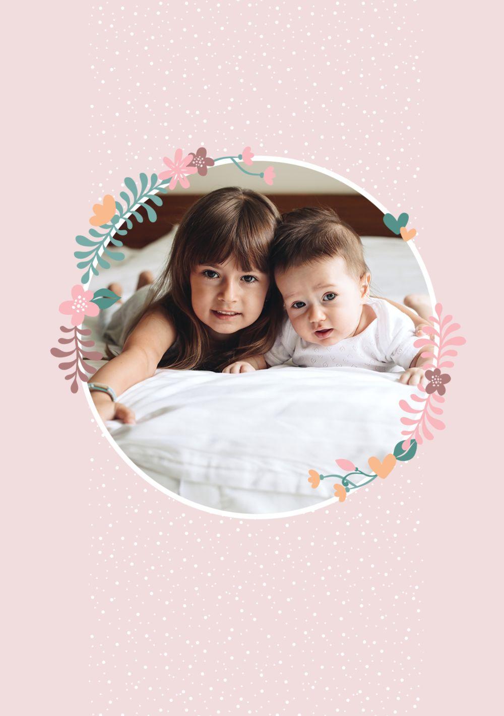 Ansicht 4 - Muttertagskarte Blumenkreis