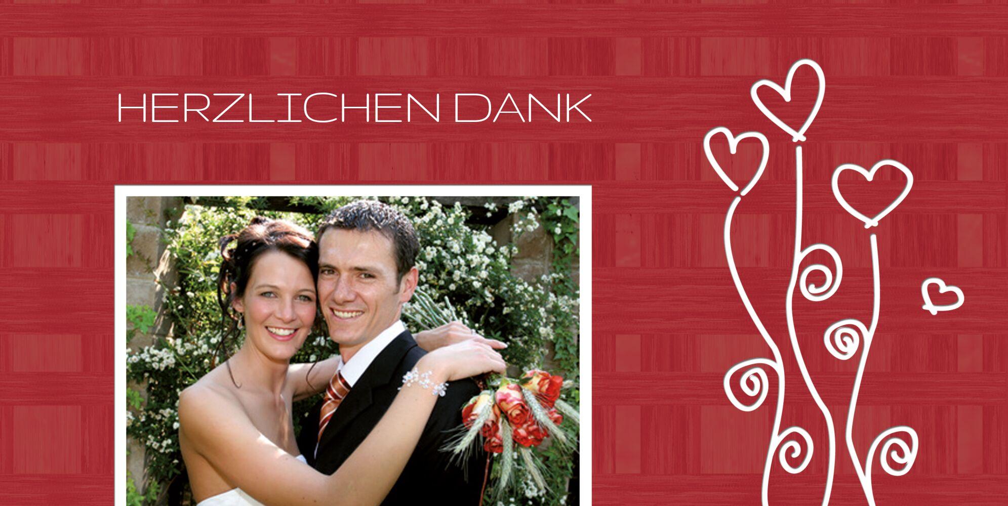 Ansicht 3 - Hochzeit Dankeskarte Liebestraum