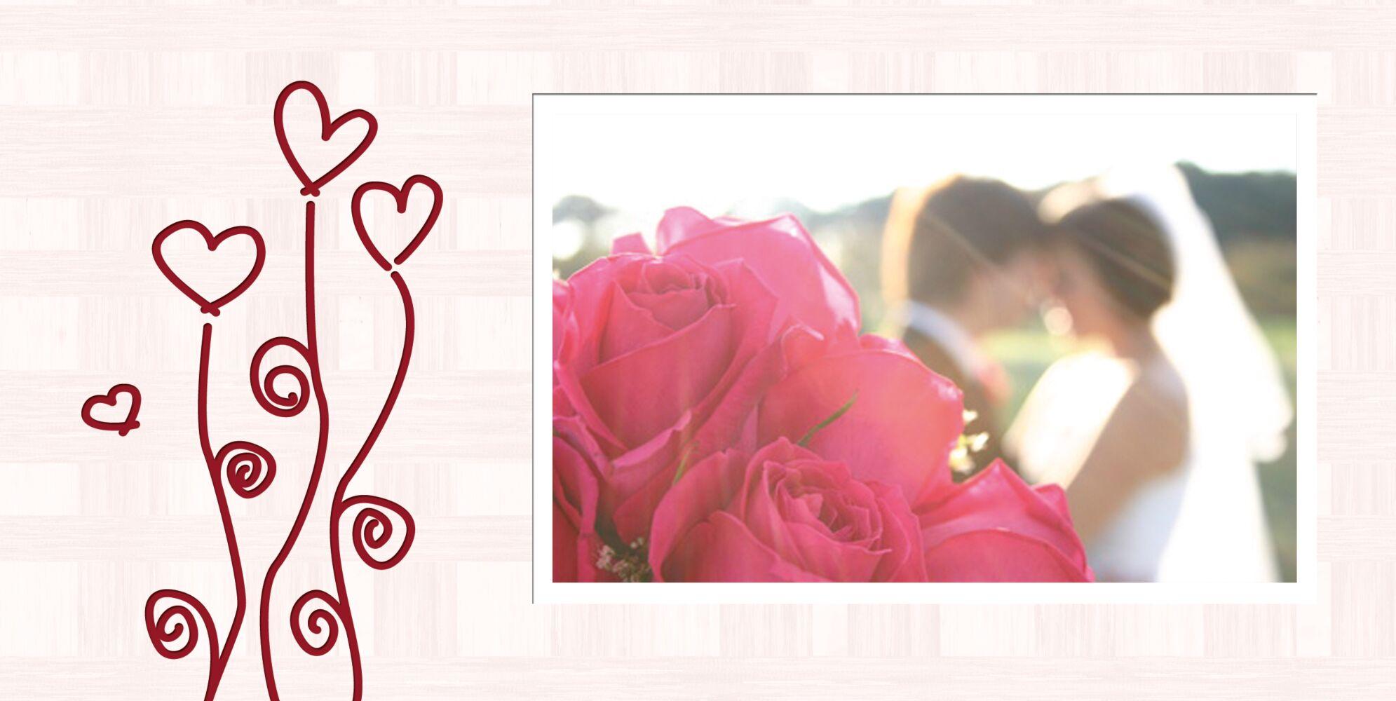 Ansicht 4 - Hochzeit Dankeskarte Liebestraum