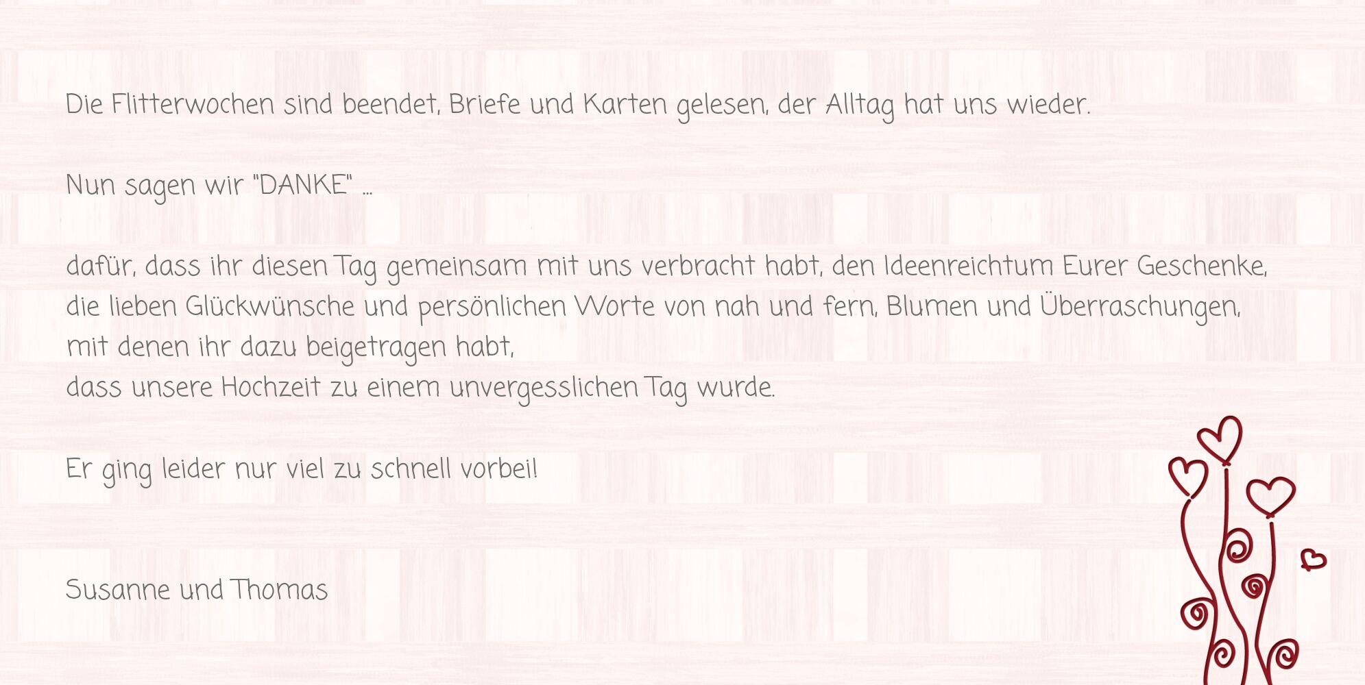Ansicht 5 - Hochzeit Dankeskarte Liebestraum