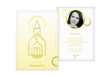 Kommunion Dankeskarte Kirche