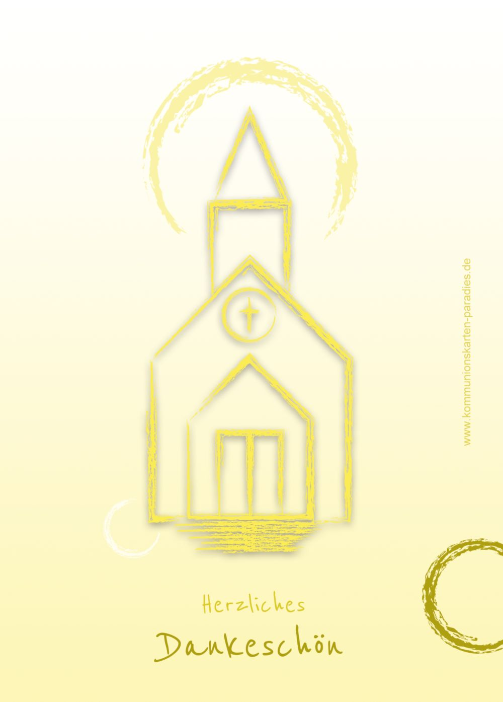 Ansicht 2 - Kommunion Dankeskarte Kirche