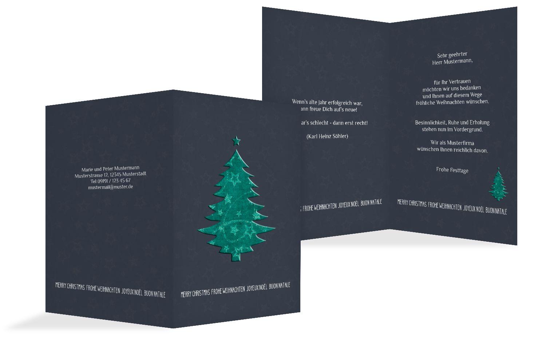 Weihnachtsgrußkarte Baum