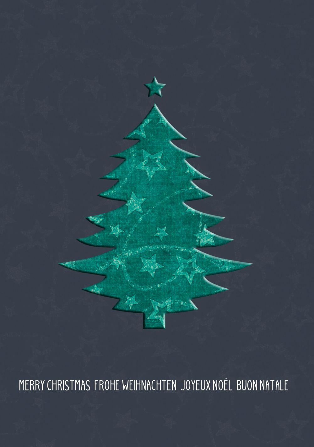 Ansicht 3 - Weihnachtsgrußkarte Baum