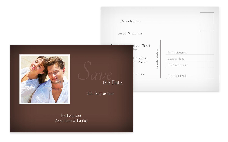 Hochzeit Save-the-Date ewige Verbindung