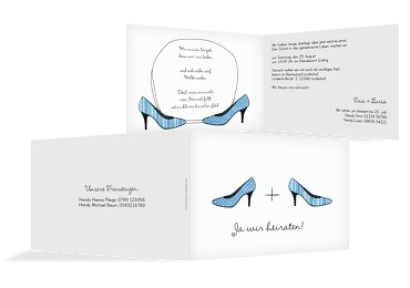 Hochzeit Einladung High Heels