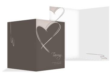 Hochzeit Kirchenheft Umschlag Doppelherz