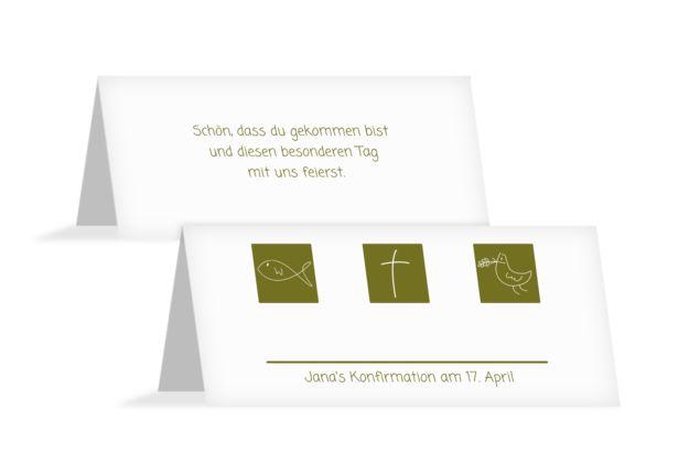 Konfirmation Tischkarte Triple