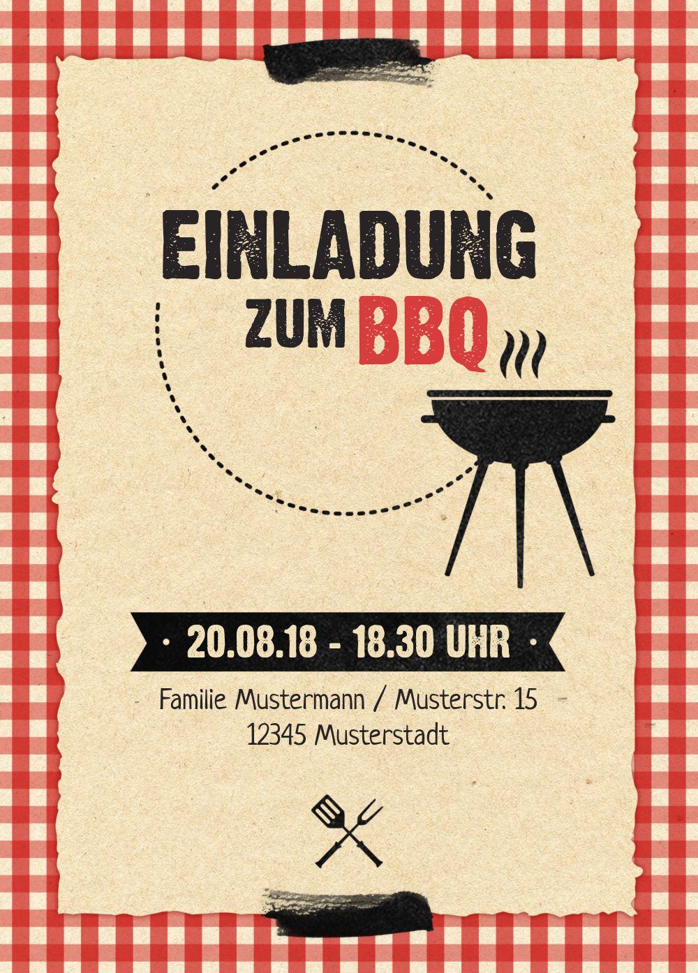 Ansicht 2 - Einladung Sommerfest BBQ
