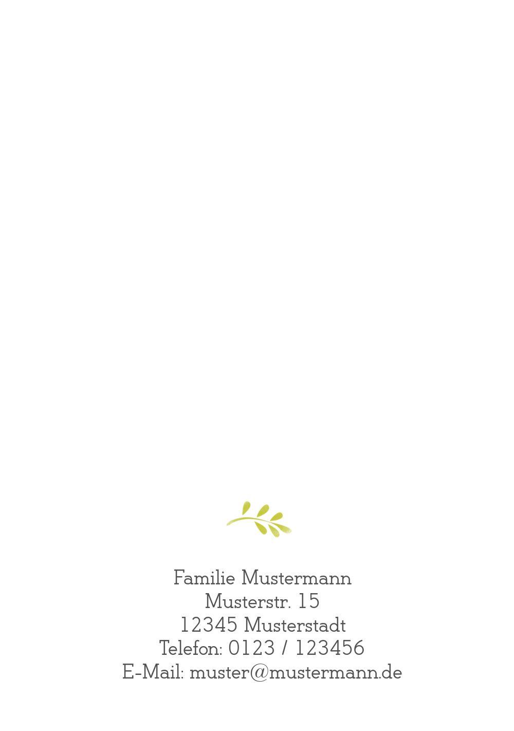 Ansicht 2 - Konfirmation Einladungskarte Blumenkreuz