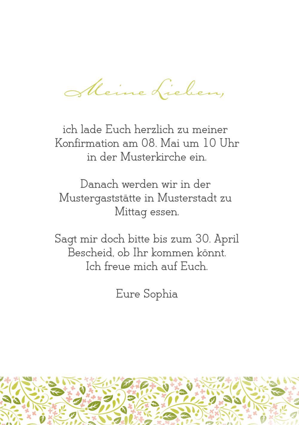 Ansicht 5 - Konfirmation Einladungskarte Blumenkreuz