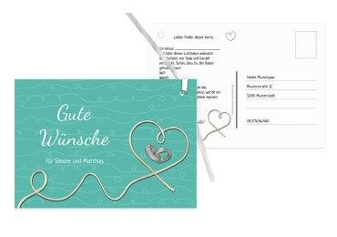 Hochzeit Ballonkarte erfüllte Liebe