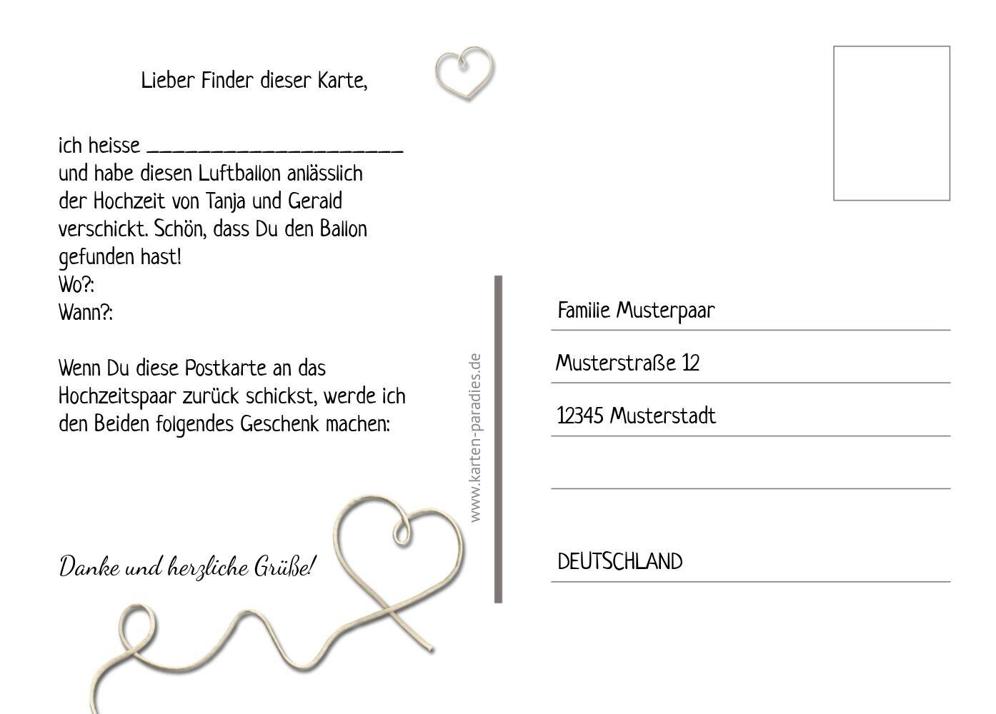 Ansicht 3 - Hochzeit Ballonkarte erfüllte Liebe