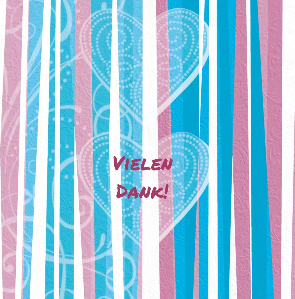 Ansicht 4 - Baby Dankeskarte hearts and stripes