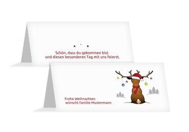 Tischkarte Rudolph