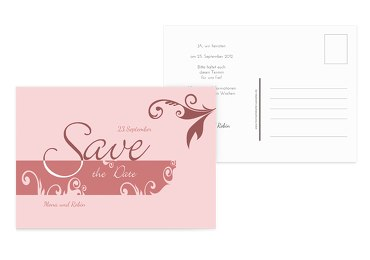 Save-the-Date squiggle square