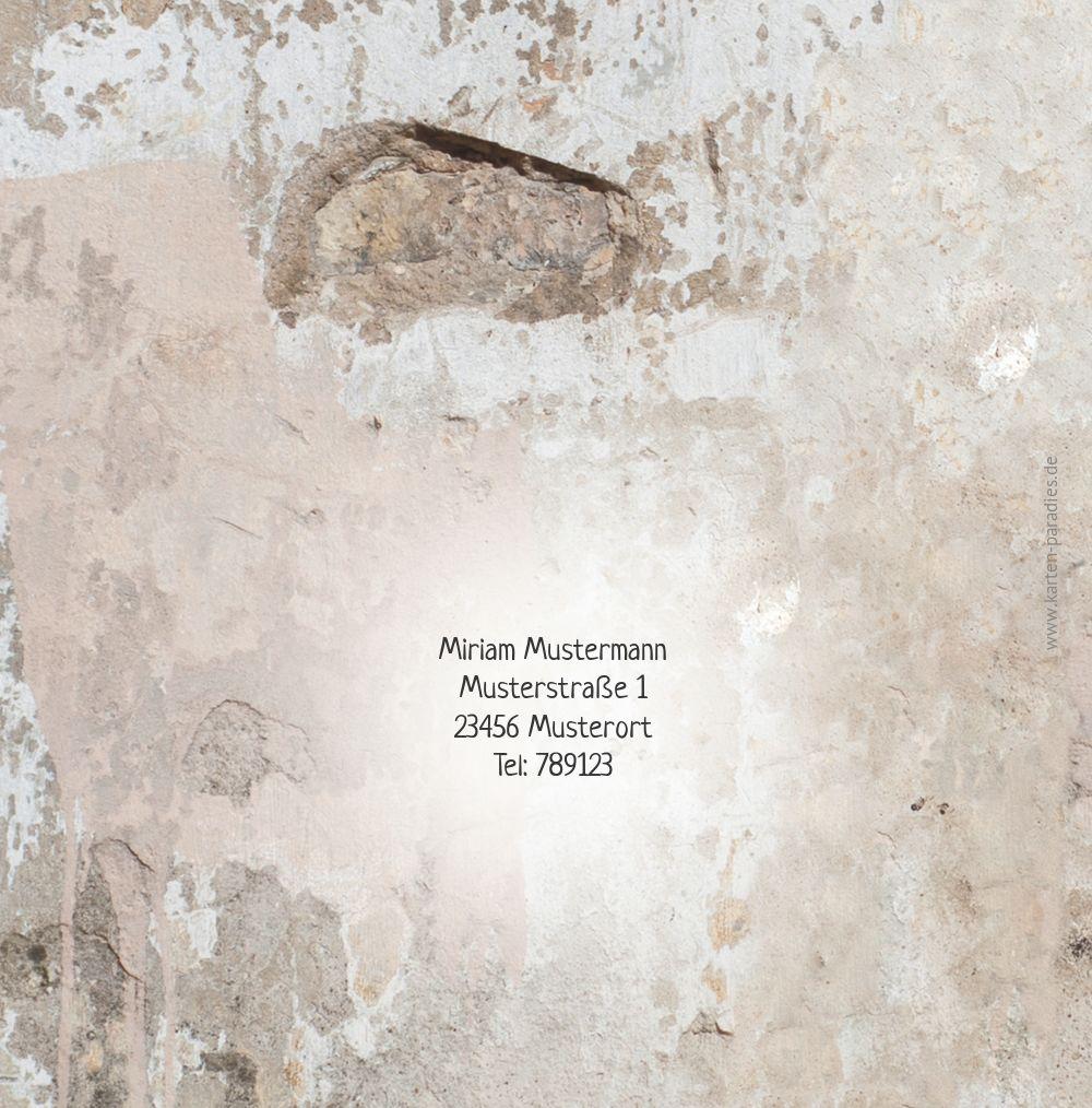 Ansicht 2 - Einladung Foto Striche an der Wand 50