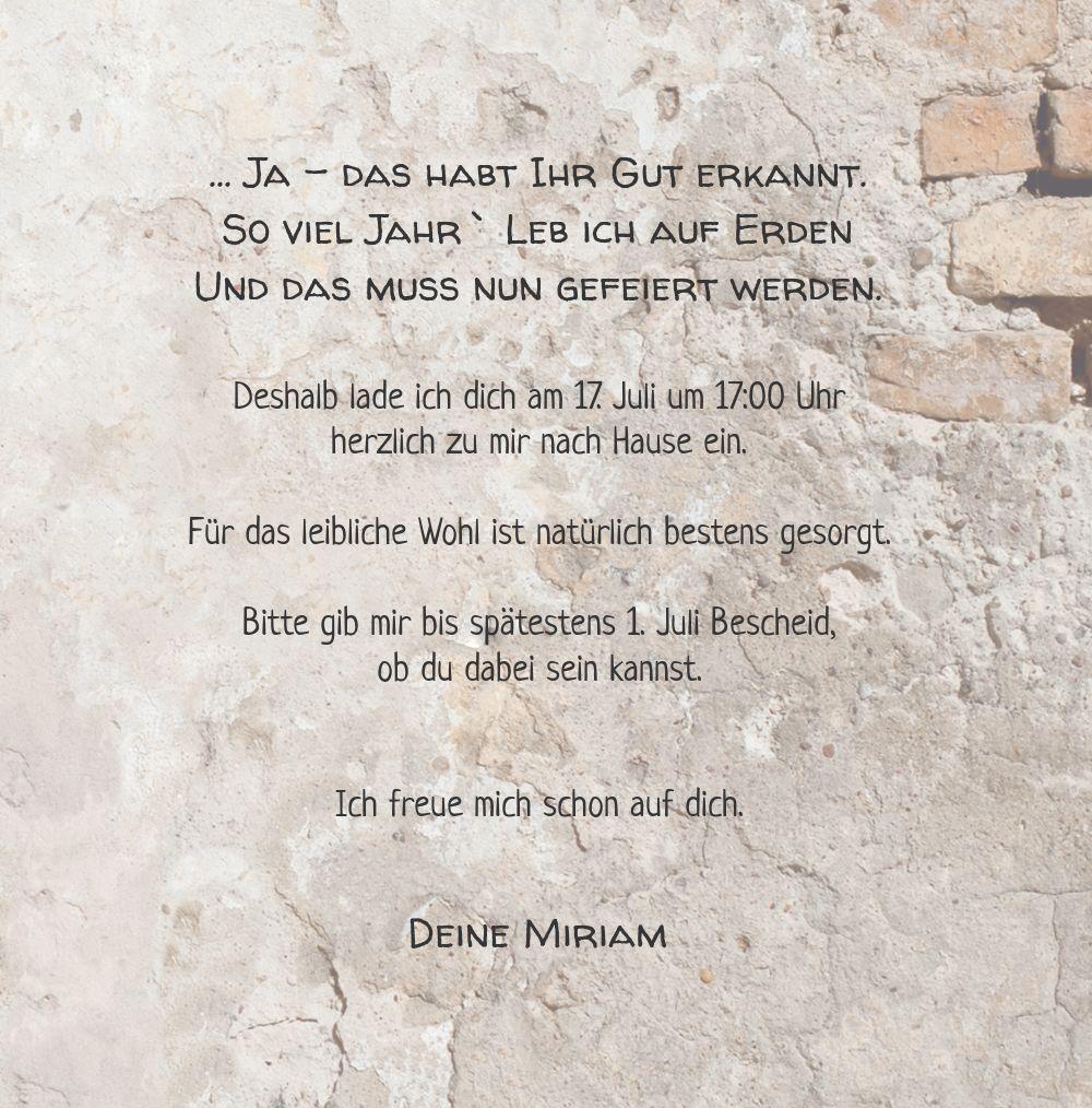 Ansicht 5 - Einladung Foto Striche an der Wand 50
