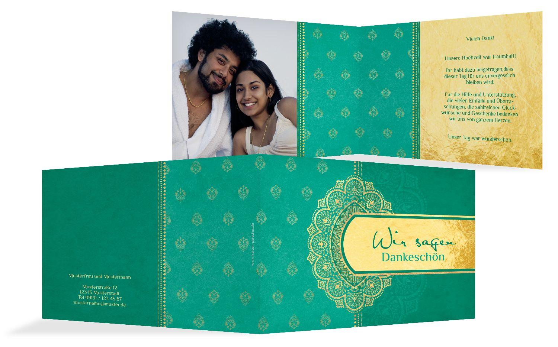Hochzeit Dankeskarte Mumbai
