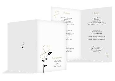 Hochzeit Menükarte Herzblume