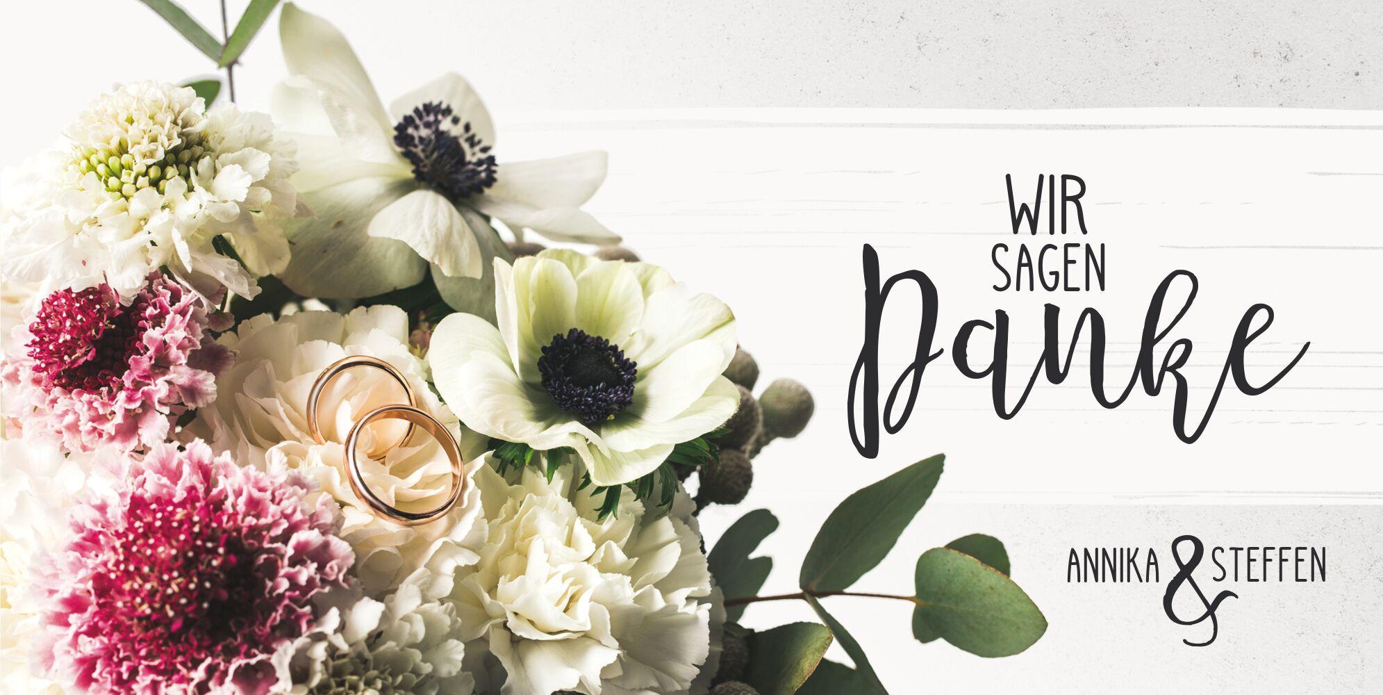 Ansicht 3 - Hochzeit Dankeskarte Bouquet