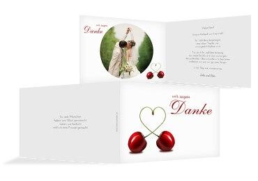 Hochzeit Dankeskarte Kirsche