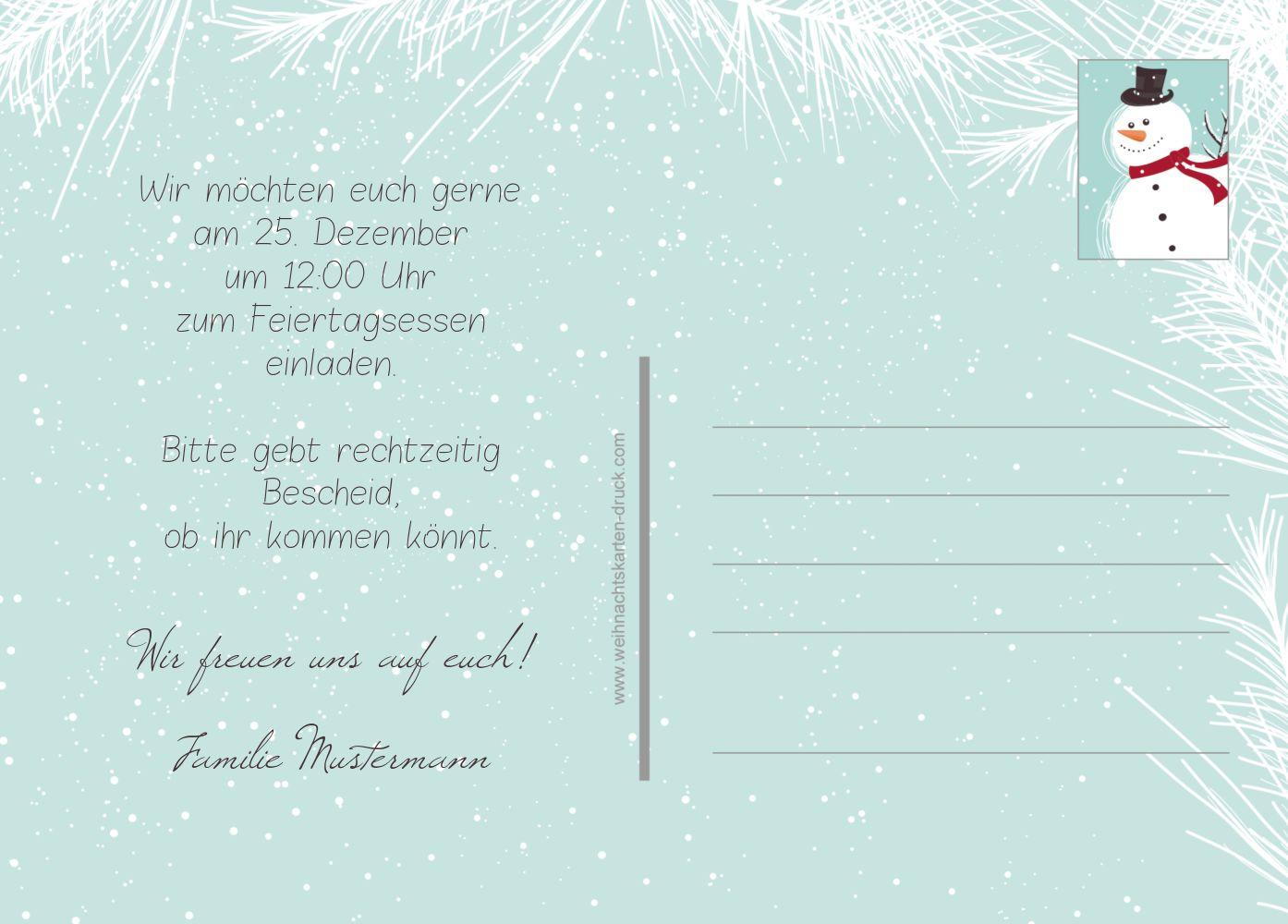 Ansicht 3 - Einladung Schneemänner