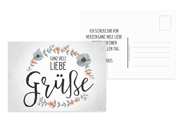 Spruchkarte Liebe Grüße