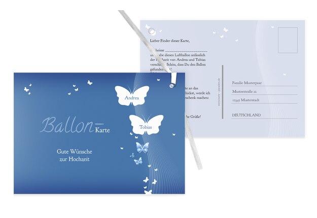 Hochzeit Ballonkarte Traumpaar