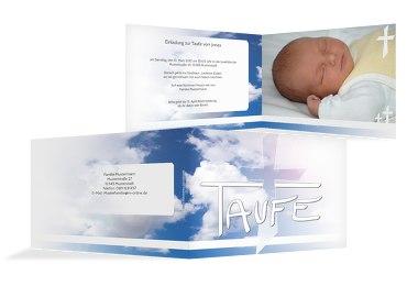 Taufkarte Himmelskreuz