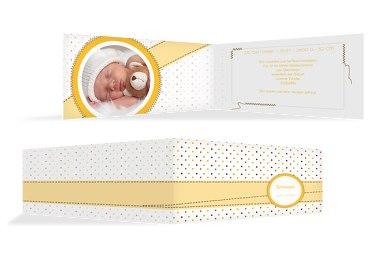 Baby Dankeskarte Pünktchen